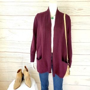 Loft soft knit cardigan with front pockets
